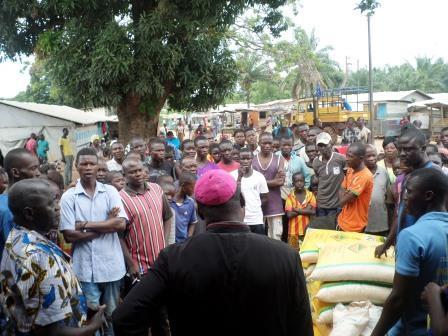 Les déplacés de l'église Castors/ photo Eric Ngaba
